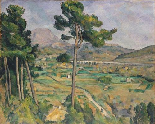 Landscape with viaduct: Montagne Sainte-Victoire, c.1885-87