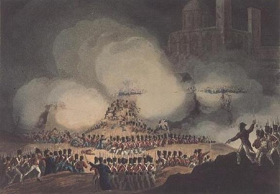 Storming of Monte Video, 3rd February, 1807, engraved by Thomas Sutherland