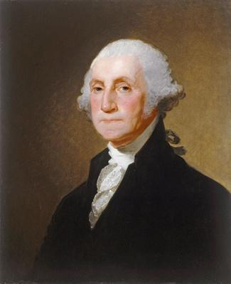 George Washington, c.1821 (oil on canvas) by Stuart, Gilbert (1755-1828)