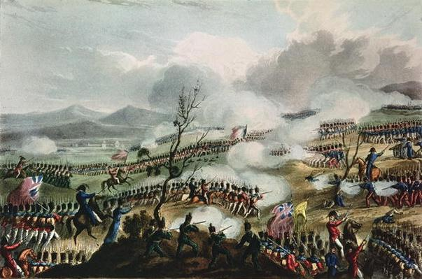 Battle of Nivelle, 10th November, 1813, engraved by Thomas Sutherland, 1813