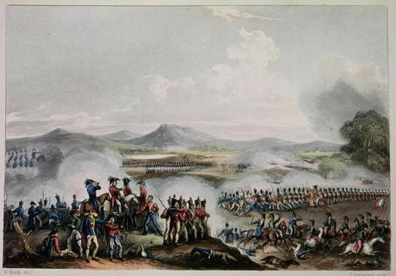 Battle of Talavera, 28th July, 1809, engraved by Thomas Sutherland