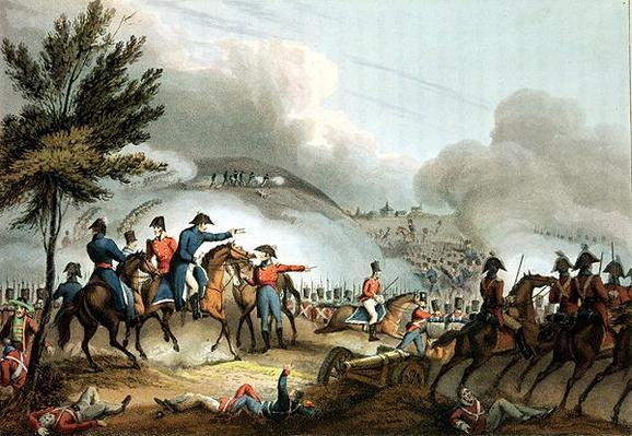Battle of Salamanca, 22nd July 1812, etched by J. Clarke, coloured by M. Dubourg