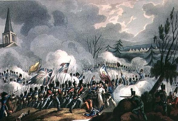 Battle of St. Jean de Luz, 10th December, 1813, engraved by Thomas Sutherland