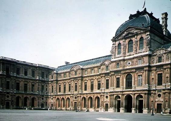 The Cour Carree and the Pavillon d'Horloge, designed by Jacques Lemercier