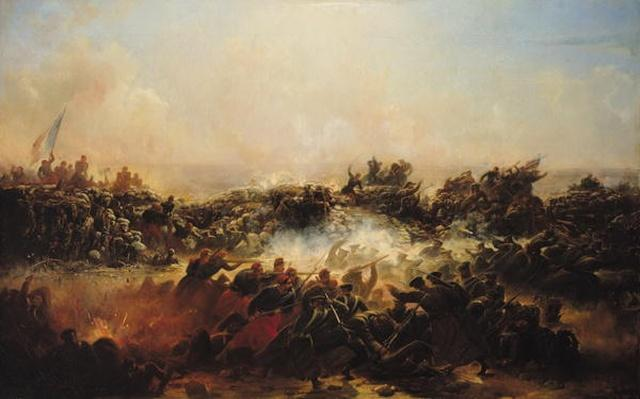 The Battle of Sebastopol, right hand section of triptych, after 1855