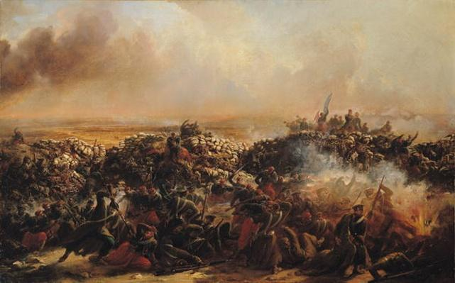 The Battle of Sebastopol, central section of triptych, after 1855