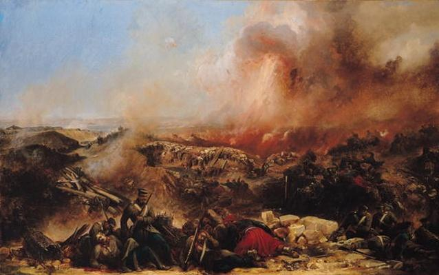 The Battle of Sebastopol, left section of triptych, after 1855