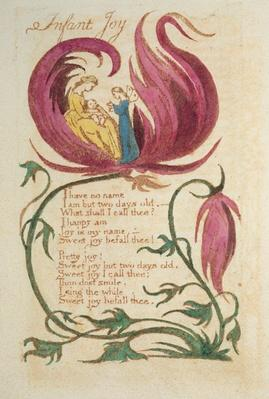 Infant Joy, from Songs of Innocence, published 1789