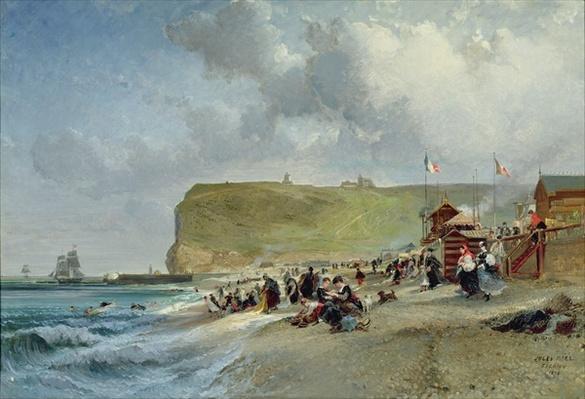 Crinolines on the Beach, Fecamp, 1871
