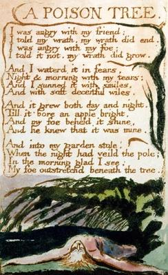 A Poison Tree, from Songs of Experience