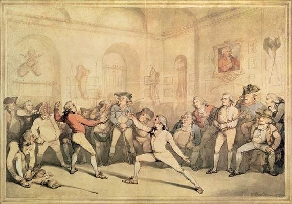 Angelo's Fencing Room, pub. 1787