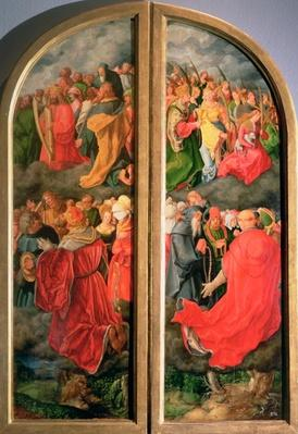 All Saints Day altarpiece, partial copy in the form of two side panels, 16th century