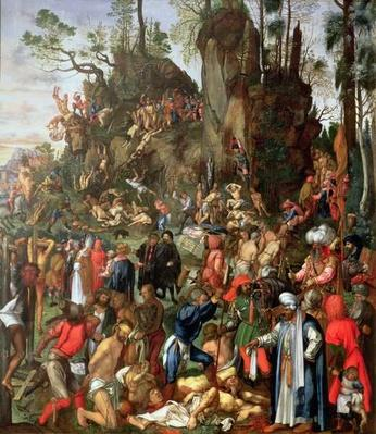 Martyrdom of the Ten Thousand, copy of a painting by Albrecht Durer, 1653