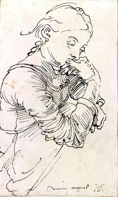 'My Agnes', Durer's wife depicted as a girl, 1494