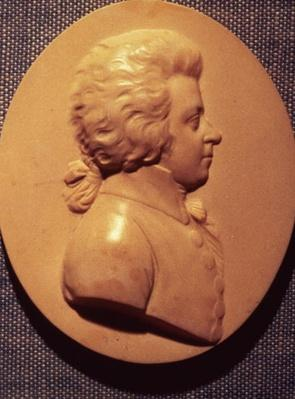 Portrait medallion of Wolfgang Amadeus Mozart