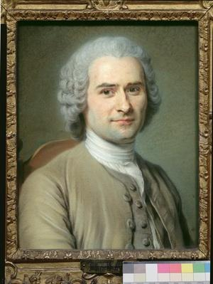Portrait of Jean Jacques Rousseau