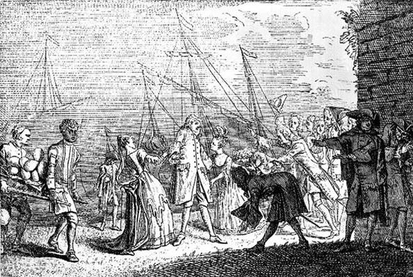 The landing in England of Senesino, 1719