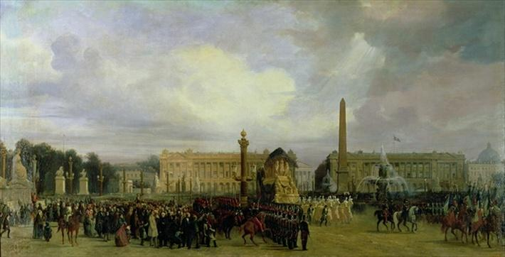 The Ceremony for the Return of Napoleon's Ashes in 1840: The Cortege Entering the Place de la Concorde, after 1840