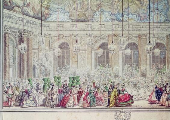 The Masked Ball at the Galerie des Glaces on the Occasion of the Marriage of the Dauphin to Marie-Therese, 17th February 1745