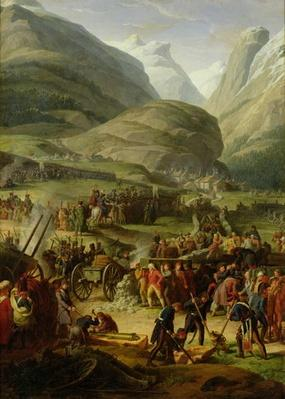 The French Army Travelling over the St. Bernard Pass at Bourg St. Pierre, 20th May 1800, 1806
