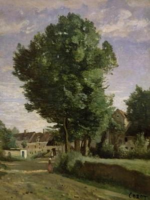 Outskirts of a village near Beauvais, c.1850