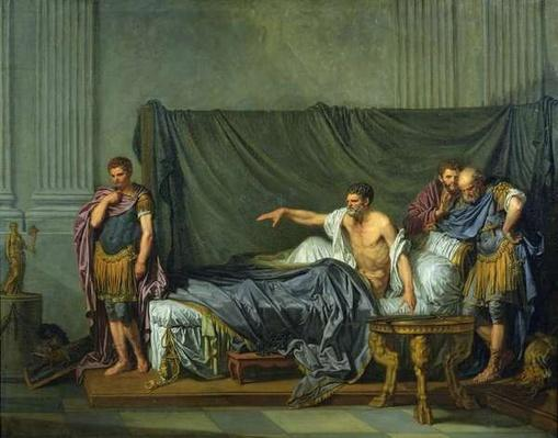 The Emperor Severus Rebuking his Son, Caracalla, for Wanting to Assassinate Him, 1769