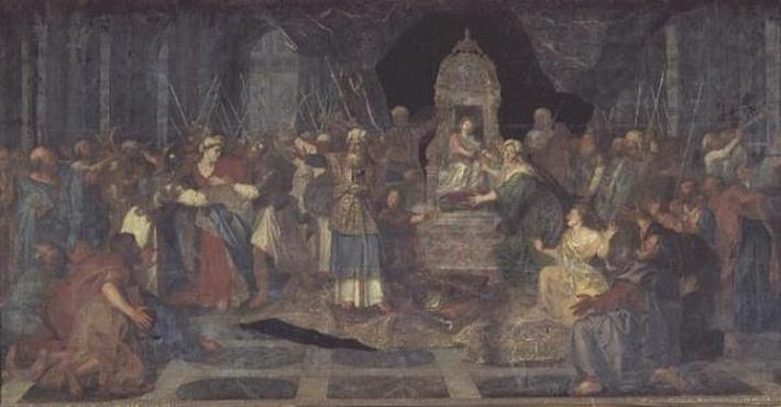 Athaliah chased from the Temple, 1710