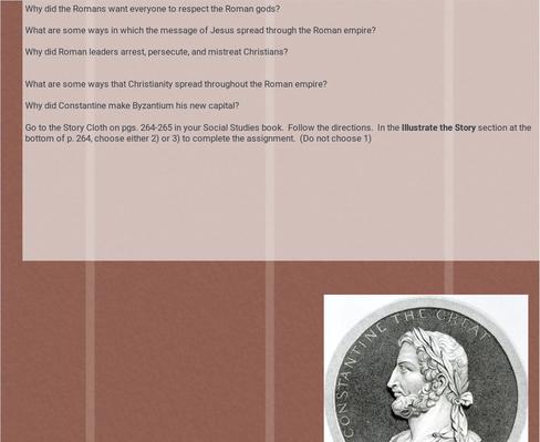 Roman empire lesson 4 assignments