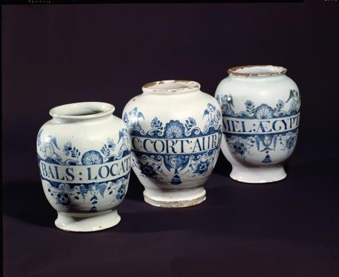 Apothecaries' drug jars, c.1740
