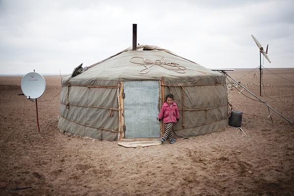 A Ger (Yurt) in a Dusty Gobi Landscape | Global Oneness Project