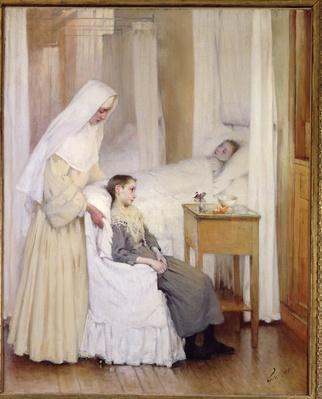 At Notre-Dame du Perpetuel Bon Secours Hospital, 1903