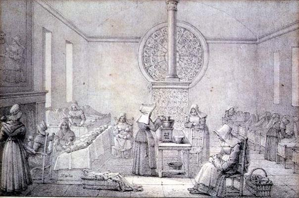 The Foundling Nursery by Marlet, Jean Henri (1771-1847)