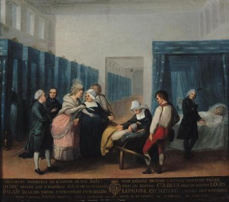 The Visit of Monsieur and Madame Necker to the Hopital de la Charite, 1780