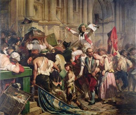 The Conquerors of the Bastille before the Hotel de Ville in 1789, 1839