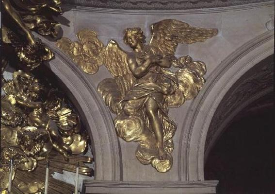 Louis XIV style angel, from the arch to the right of the High Altar in the Chapel