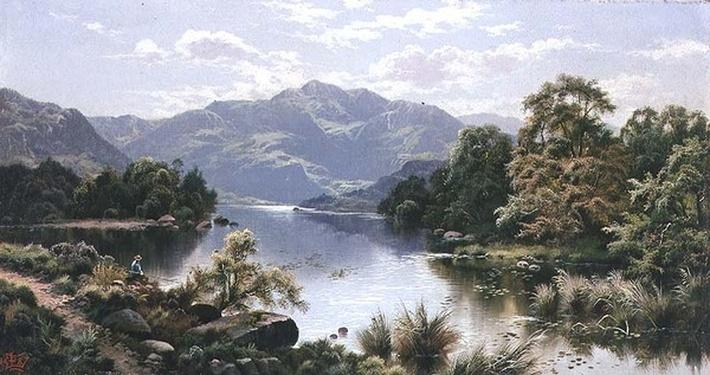 A Lake Scene in North Wales
