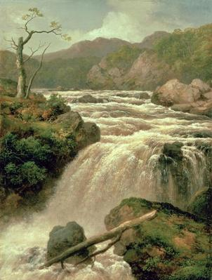 Waterfall on River Neath, South Wales, 19th century