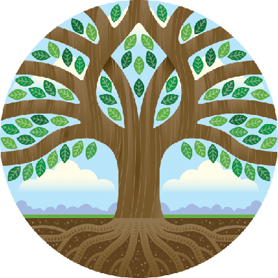 Big Tree in a Circle | Clipart