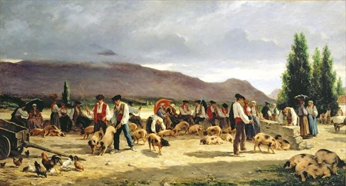 The Pig Market, 1875