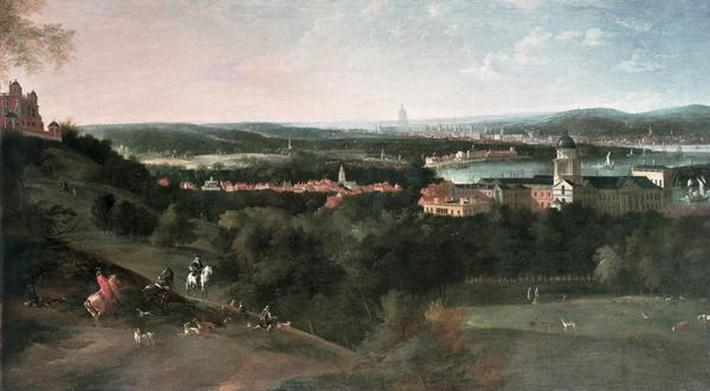 View across Greenwich Park towards London, Painted for Louis XV in Paris