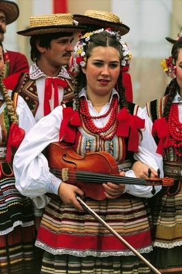 Close-up of a young woman playing the violin, Warsaw, Poland | Musical Instruments