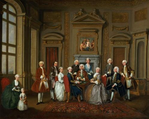 A Family in a Palladian Interior