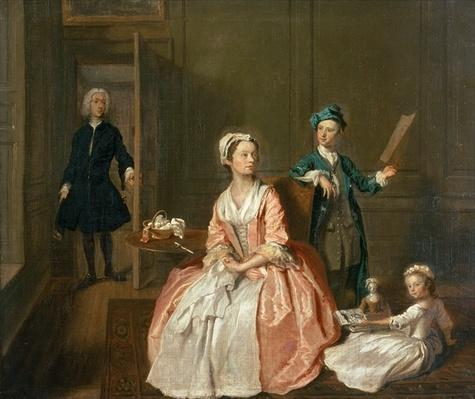 Conversation Piece, probably of the artist's family, c.1732-5