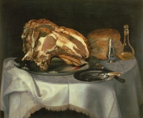 Still Life with Joint of Beef on a Pewter Dish, c.1750-60