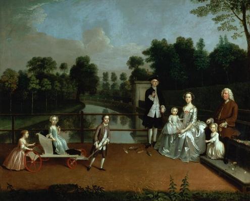 A Family Group on a Terrace in a Garden, 1749