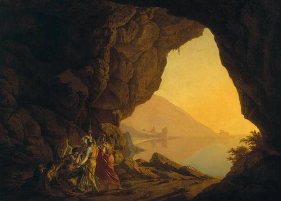 A Grotto in the Kingdom of Naples, with Banditti, exh. 1778