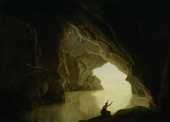 A Grotto in the Gulf of Salernum, with the figure of Julia, banished from Rome, exh. 1780
