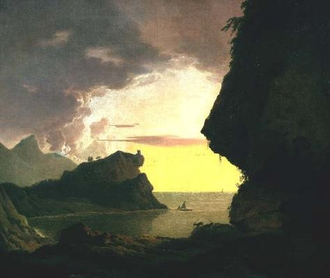 Sunset on the Coast near Naples, c.1785-90