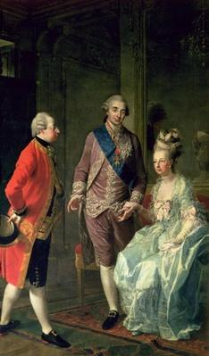 Archduke Maximilian Franz visiting Marie Antoinette