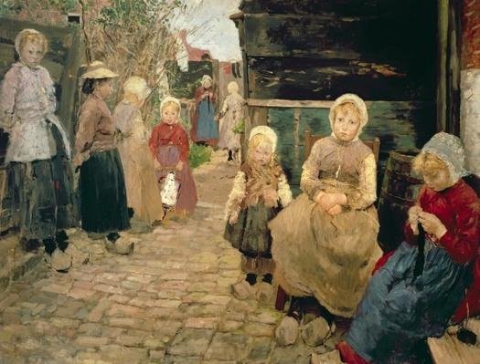 Fisherman's children in Zandroot, 1882